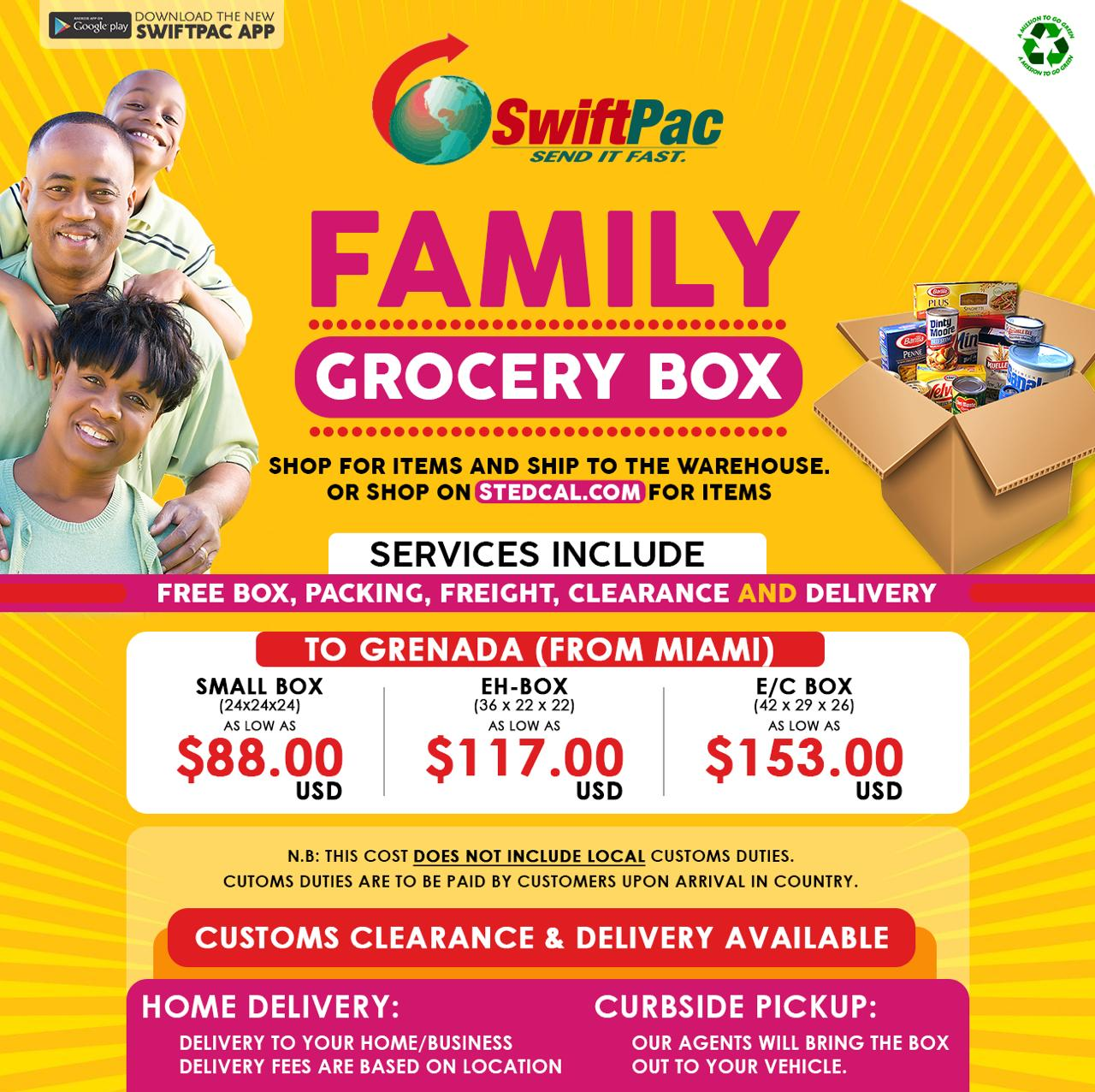 SwiftPac Family Grocery Box